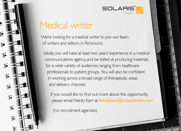 Medical Writer Advert OCT 2017.png